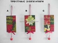 Metal Christmas Ornaments with Bells hanging