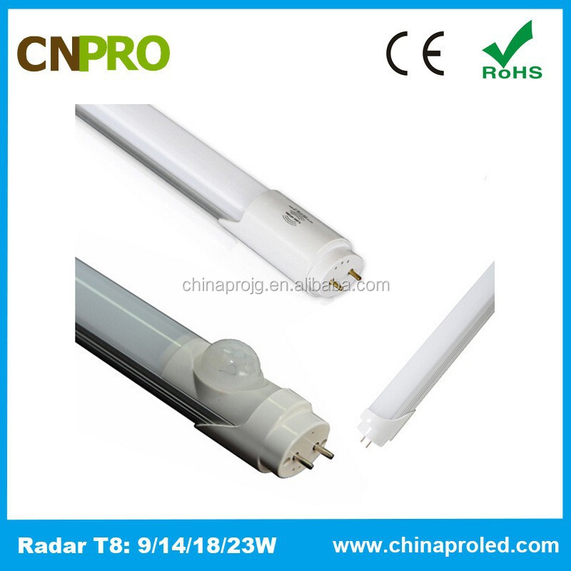 Cheap Price PIR Motion Sensor LED Tube Light Price List for Car Parking Lots 2ft 85-262V 3 Years warranty