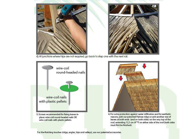 Synthetic Thatch / Fiber Thatch / art thatch roof tile