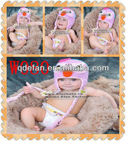 hand knit winter earflap infant toddler animal crochet baby owl hat acrylic beanie minions