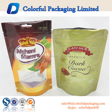 Doypack stand up white foil zip lock bag flour packaging bag detergent powder plastic bags