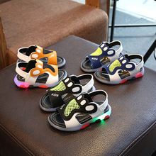 YLS-113led New App Controlled Led children genuine leather Shoes Manufacturer Cool Adult Light