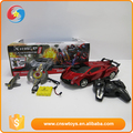 Most popular cool red transfiguration robot rc cars for sale