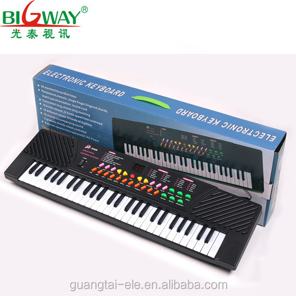 2017 hot sale Educational kids toy 54 keys electronic keyboard electronic music organ