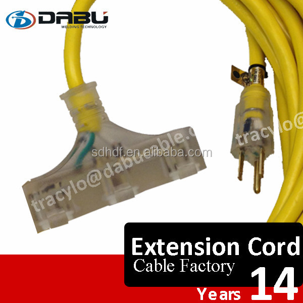 High Flexible Lighting Plug UL Standard PVC Cover Extension Cord