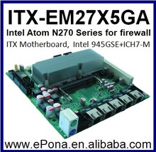 Intel Atom N270 ITX Motherboard for firewall ITX-EM27X5GA