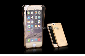 360 Degree Soft Clear Front and Back TPU Phone Cover Case For Apple iPhone 7/7 Plus