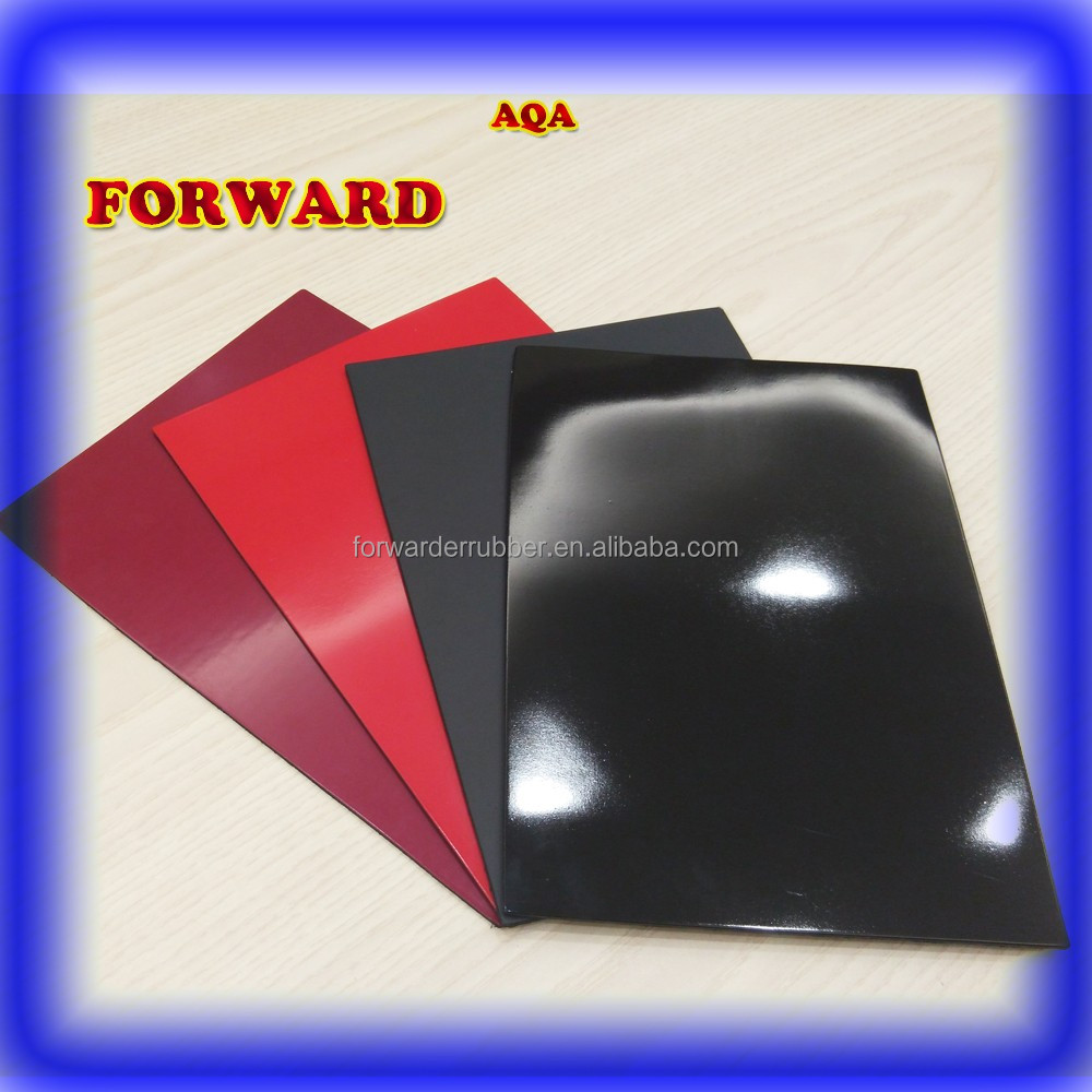 black shinning vulcanized rubber sheet for shoe making
