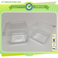 disposable transparent plastic food container with cover