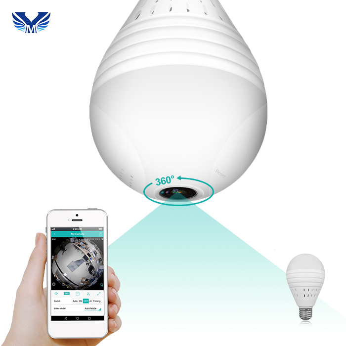 1.3 MP Fisheye 360 Degree Spy Hidden Led Light Bulb Camera for Home <strong>Security</strong>