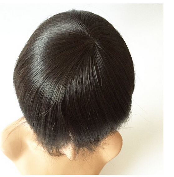 factory price korea toupee swiss lace human hair skin top wig