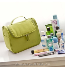 Fashion of portable simple pure color green waterproof polyester cosmetic bag