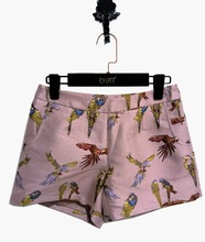 Latest shorts for fashion embroidered pink ladies shorts with spring design hot pants