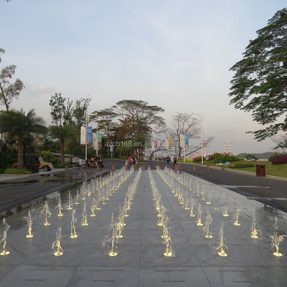 Large outdoor fountain dancing, music dancing water fountain built in R F of Malaysia