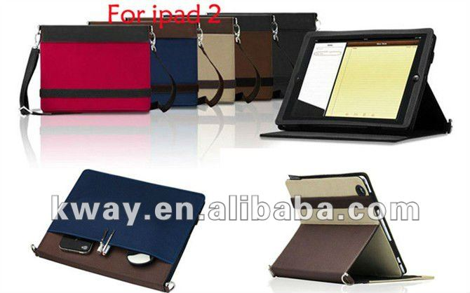 Beef Tendon Grain Leather Case Satchel Bag for iPad 2 the new iPad 3 KSH124