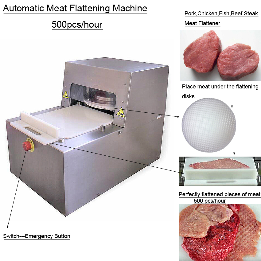 Hot sale manufacturer direct selling beef steak meat flattening machine