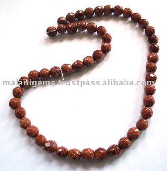 Brown Sandstone Faceted Round Loose Beads