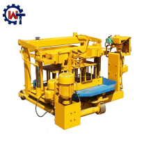 WANTE brand mobile egg-laying manual concrete block / brick making machines QT40-3A