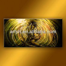 Modern nude canvas art painting via abstract oil painting
