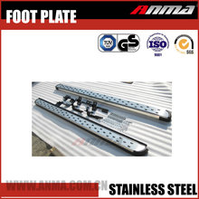 Stainless steel welcome pedal door sill foot pressure plate