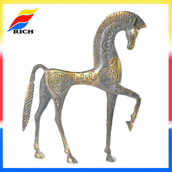Antique Brass plated Metal Horse Statue