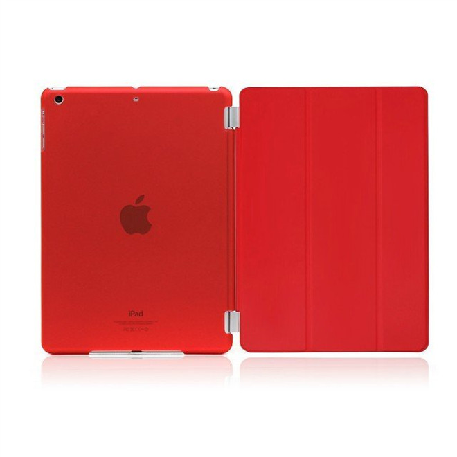 50Pcs High quality PU Leather Protective front Smart Cover+ 50pcs Matte Hard Back Case For IPAD Mini 1 2 3 Multi-Colors