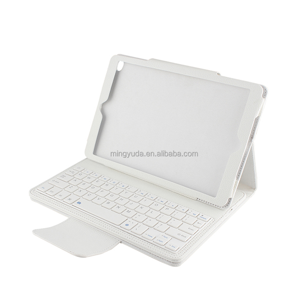 detachable keyboard with buit-in adjustable stand leather case for ipad