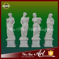 Hot Sale Outdoor Garden Stone Four Seasons God Statue
