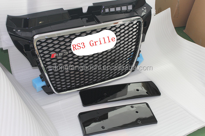 For AUDI 8P 2007-2011 A3 RS3 front grille RS3 grille