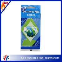customized diamond design Paper car Air Freshener Aroma Home Scented Air Freshener