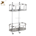 Two Tier Stainless Shampoo Basket Soap Dish Holder Caddy 6613