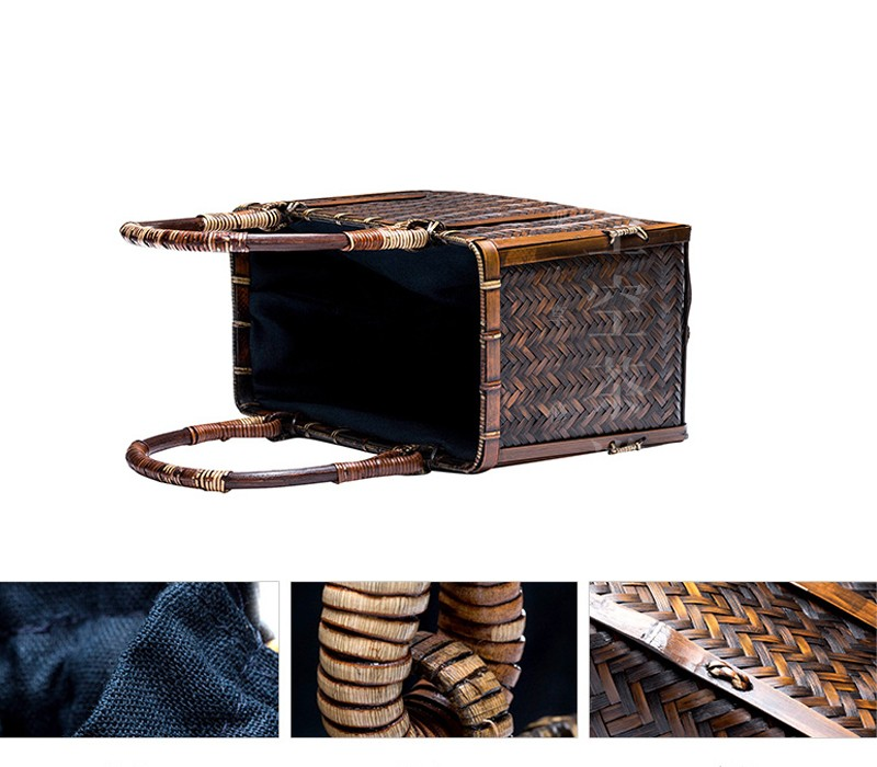 Wholesale Chinese handmade embroidery knit / weave bamboo rattan ...