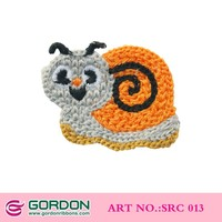 crochet animal applique/Handmade Crochet Snail /kids hair &clothing accessories