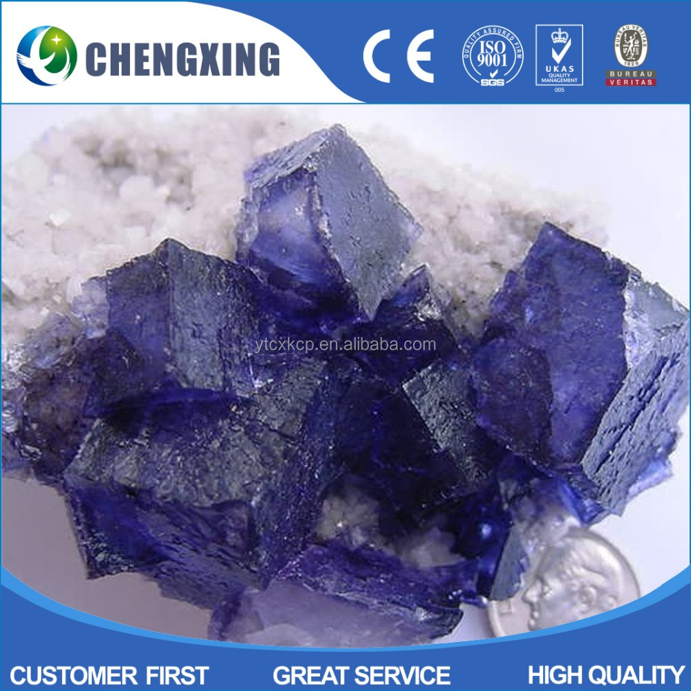 Manufacturer directly supply good pure acid grade fluorspar lump in China