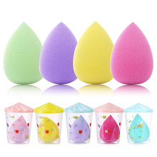 Großhandel schönheit schwamm mixer make-up cosmetic puff tear drop latexfrei make-up schwamm