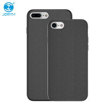 JORITA PU Leather Coated Snap Plastic Cover Case with Groove for iPhone 8 8Plus Back Cover