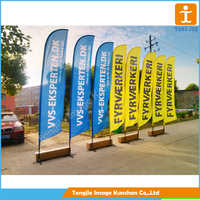 Outdoor Advertising flying banner with pole swing banner