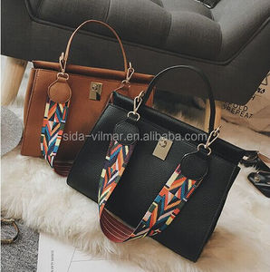 2017 Customized Design Fashion PU leather Fabric Bag Woman handbag for Lady
