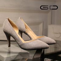 Elegent fashion ladies pointed toe high heel slingbacks women footwear