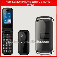 dual sim low end chinese mobile phone flip W73