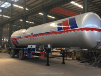 ISO level tanker trailer / diesel gasoline crude oil fuel tank semi trailer / lpg tanker for tractor