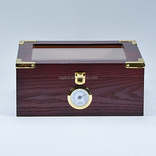 Factory wholesale cigar box custom glass wooden display humidor cabinet