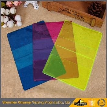 Colorful plastic cover PVC exercise book cover with different sizes 2-fold transparent pvc book cover for school usage