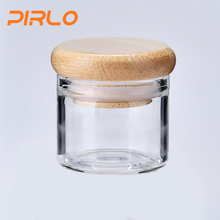 5ml mini glass jar with bamboo lid