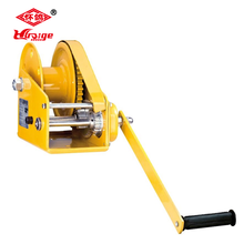 2500 lbs wire rope hand winch with brake
