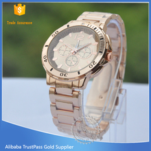Custom made gold plating japan movt quartz watch stainless steel back watches men,stainless steel watch