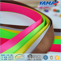 100% polyester grosgrain ribbons imported