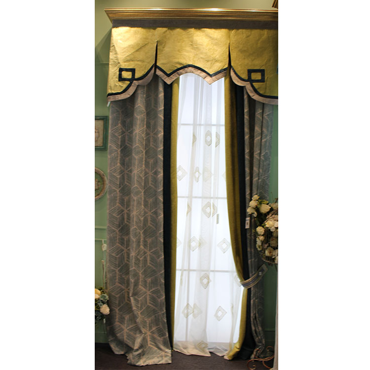China supplier drapes window treatments double layer curtain and drapes