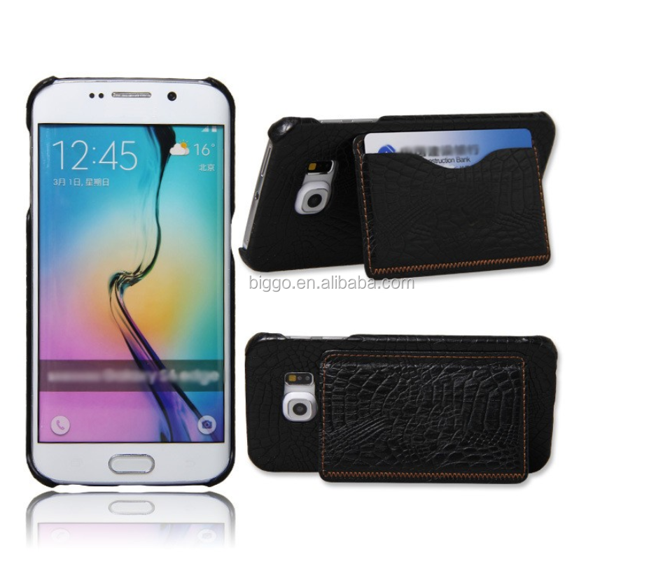 for Samsung Galaxy S7 wallet credit card slot case foldable stitching cell phone case