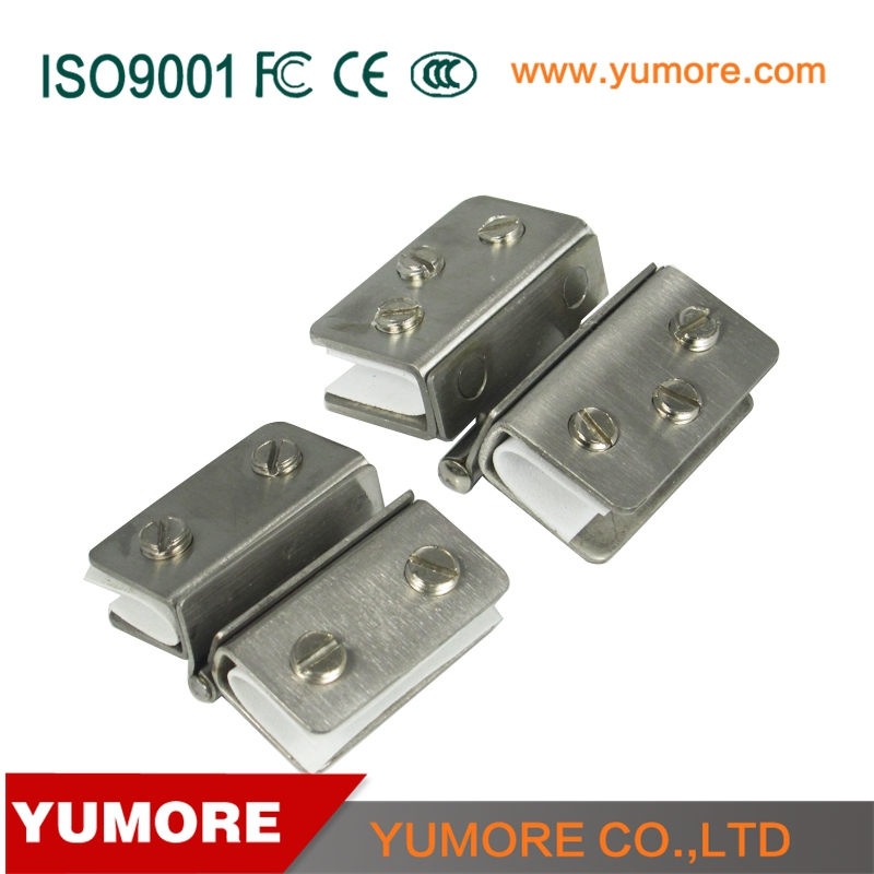 Double side shower hinges for glass door, display cabinet glass hinges clamps